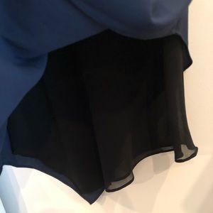 RACHEL Rachel Roy Tops - Navy layered blouse